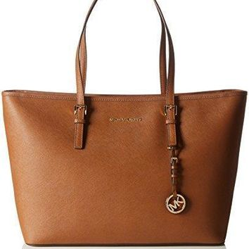 MK Women Shopping Bag Leather Tote Handbag MICHAEL Michael Kors Women's Jet Set Multif