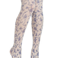 Roses Are Blue Tights   Mod Retro Vintage Tights   ModCloth.com