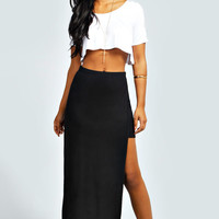 Charlie Exposed Leg Maxi Skirt
