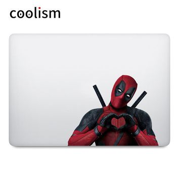 Deadpool Dead pool Taco  Heart Shape Gesture Laptop Sticker for Apple MacBook Sticker Air 13 Pro Retina 11 12 15 inch Mac Mi Book Colorful Decal AT_70_6