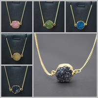 Elegant Natural Stone Jewelry Candy Color Genuine Pendants Necklaces = 1958222148
