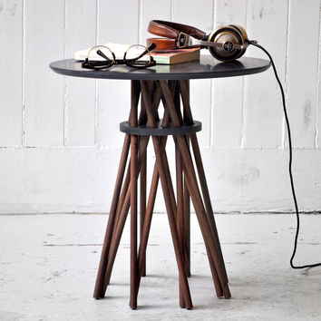 I liked this design on #Fab. Bundle Side Table Walnut Black