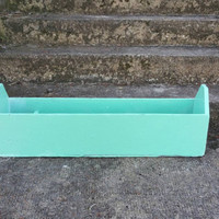 "Upcycled Old Masons Tool Box,38""×8""×12"" Flower Box,Garden Supply/Tool Caddy,Distressed Green"