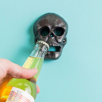 ModCloth Skulls Head of the Game Bottle Opener