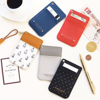 Iconic Swing slim and flat card case holder with neck strap