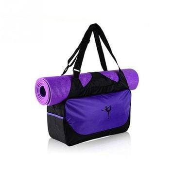 Sports gym bag Large Outdoor Travel Handbag Oxford cloth Gym Bag Yoga Mat Bag Women Fitness s KO_5_1