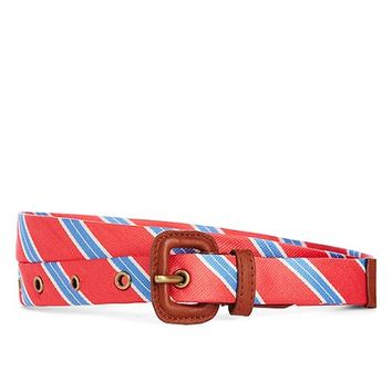 Silk Tie Stripe Belt - Brooks Brothers
