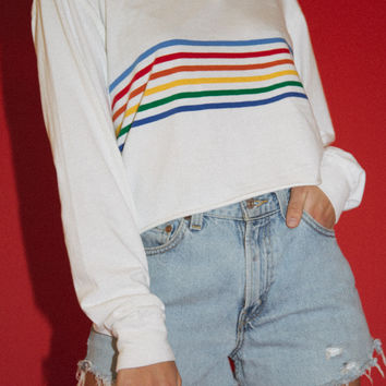 Jonny Rainbow Top - Stripes - Clothing