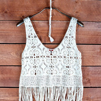 Crochet With Love Top - Shoreline Boutique