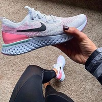Nike Epic React Flyknit Light casual running shoes