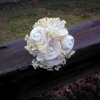 Rustic tossing bouquet extra small bouquet sola flower bouquet flower girl bouquet mother's bouquet wedding decorations wedding accessories