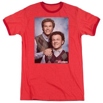 Step Brothers Ringer T-Shirt Portrait Red Tee