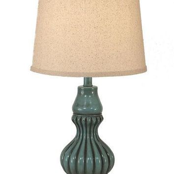 Ribbed Genie Accent Pot Table Lamp