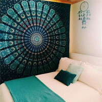 150x130cm Indian Mandala Tapestry Hippie Home Decorative Wall Hanging Tapestries Boho Beach Towel Yoga Mat Bedspread Table Cloth