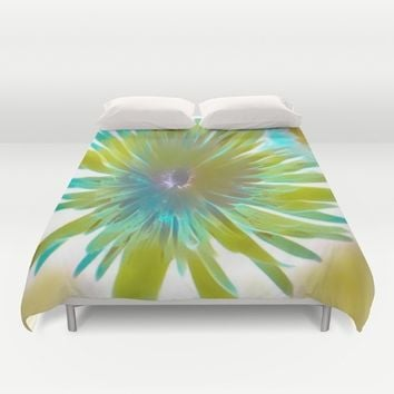 wild flower Duvet Cover by violajohnsonriley