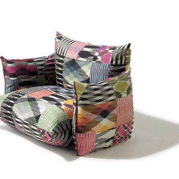 Sectional upholstered modular armchair Top 4 Collection by Missoni Home