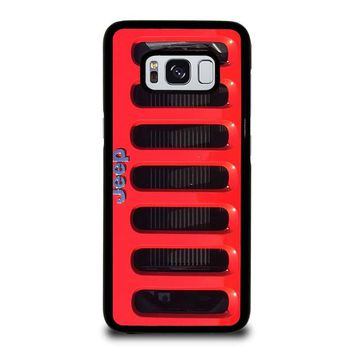 JEEP RED Samsung Galaxy S8 Case Cover
