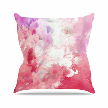 "CarolLynn Tice ""Tannins"" Red Pink Throw Pillow"