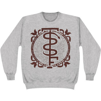 Story So Far Men's  Snake Sweatshirt Grey Rockabilia