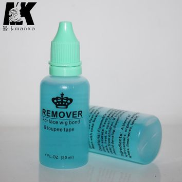 1 bottle  30ml adhesive remover for Skin tape hair/ PU skin weft hair extensions  2PCS/LOT Free EUB
