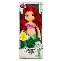 disney store animator princess ariel doll with flounder new sealed box