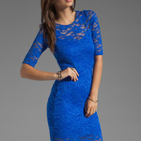 Donna Mizani Passion Lace Half Sleeve Dress in Cobalt from REVOLVEclothing.com