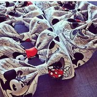 Mickey and Minnie hair fabric bow or bow tie from Bowlicious Divas Bowtique