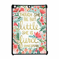 Red Flowers Though She Be But Little She Is iPad Air Case
