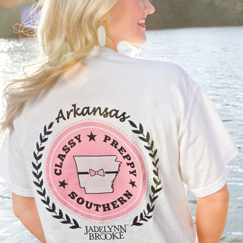 Jadelynn Brooke: Arkansas State Tee {White}