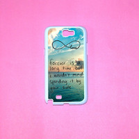 Samsung Galaxy Note 2 case, Forever Love,cute words Infinity Samsung Galaxy Note 2 case For your Samsung Galaxy Note 2