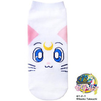 Sailor Moon Character 20th Anniversary Cute Socks (Artemis Face)