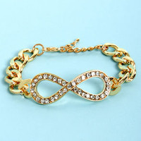 Club Hits Gold Infinity Bracelet