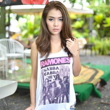 Ramones Shirt Tank Top TShirt Punk Rock Band Tee Shirt Tanks Tops T-Shirt Women Size S M L