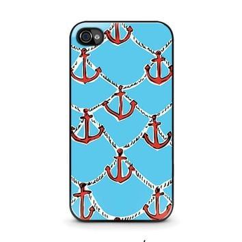lilly pulitzer anchor iphone 4 4s case cover  number 1