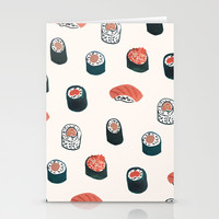 So Much Sushi  Stationery Cards by Sara Combs