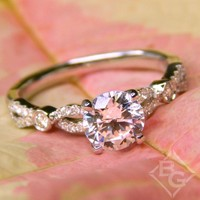 "Kirk Kara ""Lori"" Vintage Style Twist Diamond Engagement Ring"