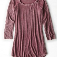 AEO Women's Ribbed Baseball T-shirt
