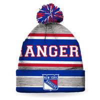 New York Rangers Striped Pompom Hat