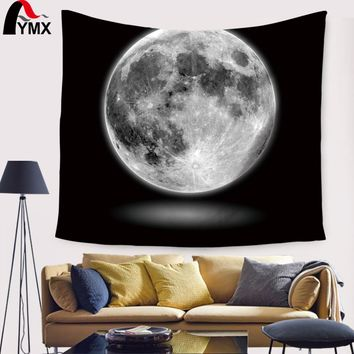 Creative Moon Tapestry Wall Hanging Artistic Polyester Fabric Cottage Dorm Wall Mandala Tapestry Home Decoration Wall Textile