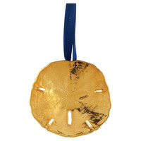 "3"" Sand Dollar Ornament, Gold, Ornaments"