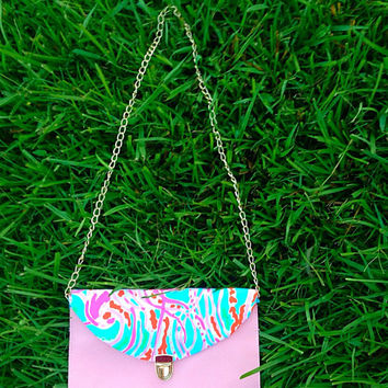 Ready to Ship! Lilly Pulitzer Jellies Be Jammin' Envelope Clutch Crossbody Purse in Baby Pink