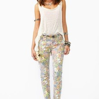 Run Down Skinny Jeans - Floral