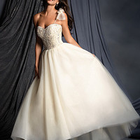 Alfred Angelo 2505 High Low Ball Gown Wedding Dress