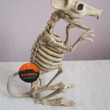 "8"" Skeleton RAT Gothic Halloween Crazy Bones Sitting Poseable Prop Decoration 