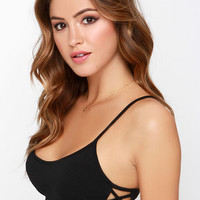 Subtle Hints Black Bra Top