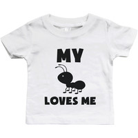 My Aunt Loves Me Funny Baby Shirts Gifts for Niece or Nephew Cute Infant Tees