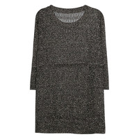 Buy Violeta by Mango Metal Thread Jumper, Black | John Lewis