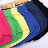 2XL Elastic Candy Color Shorts Lapel Solid Sports Casual Hot Pants Shorts = 1958378052