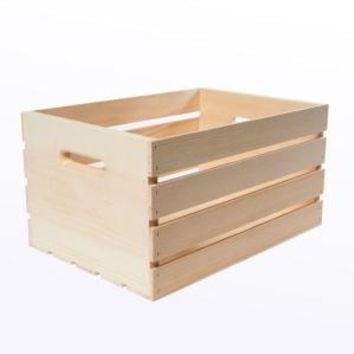 Houseworks, Crates and Pallet 18 in. x 12.5 in. x 9.5 in. Large Wood Crate, 94565 at The Home Depot - Mobile