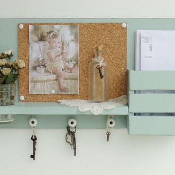 NEW .Country Cottage Mail and Key Holder..Corkboard ..Organizer.......